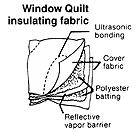 Window Quilt High Performance Insulated Shades